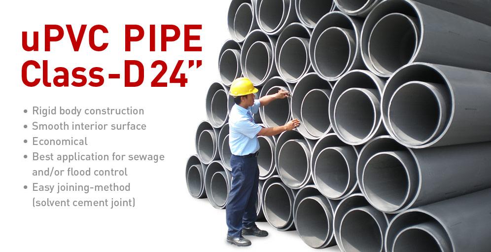 """Unilon uPVC Pipe Class D 24"""""""